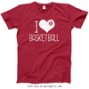 Golly Girls: I Hashtag Heart Basketball T-Shirt (Youth-Adult)
