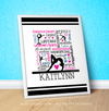 "Golly Girls: Personalized Gymnastics Typography 16"" x 20"" Poster"