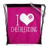 Golly Girls: I Hashtag Heart Cheerleading - Pink Drawstring Backpack