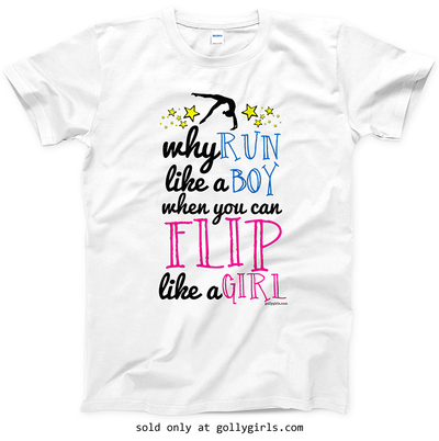 Golly Girls: Flip Like A Girl T-Shirt (Youth & Adult Sizes)