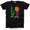 Golly Girls: Basketball Love The Game T-Shirt (Youth & Adult Sizes)