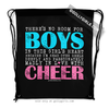 Golly Girls: No Room For Boys Cheerleading Drawstring Backpack