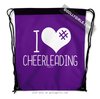 Golly Girls: I Hashtag Heart Cheerleading - Purple Drawstring Backpack