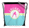 Golly Girls: Personalized Multi-Color Chevron Tennis Drawstring Backpack