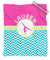 Personalized Multi-Colored Chevron Gymnastics Fleece Blanket