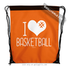 Golly Girls: I Hashtag Heart Basketball - Orange Drawstring Backpack