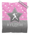 Golly Girls: Personalized Softball Among The Stars Fleece Throw Blanket