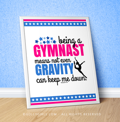 "Golly Girls: Being A Gymnast 16"" x 20"" Poster"