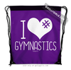 Golly Girls: I Hashtag Heart Gymnastics - Purple Drawstring Backpack