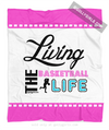 Golly Girls: Living The Basketball Life Fleece Blanket