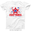 Golly Girls: Patriotic Stars Softball T-Shirt (Youth & Adult Sizes)
