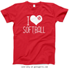 Golly Girls: I Hashtag Heart Softball T-Shirt (Youth & Adult Sizes)