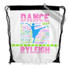 Golly Girls: Personalized Pastel Dance Typography Drawstring Backpack