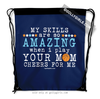 Golly Girls: Your Mom Cheers For Me Basketball Drawstring Backpack