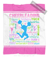 Golly Girls: Pastel Cheerleading Typography Fleece Throw Blanket