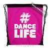 Golly Girls: Hashtag Dance Life (Pink) Drawstring Backpack