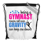 Golly Girls: Being A Gymnast Drawstring Backpack