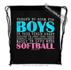 Golly Girls: No Room For Boys Softball Drawstring Backpack
