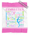 Golly Girls: Pastel Gymnastics Typography Fleece Blanket