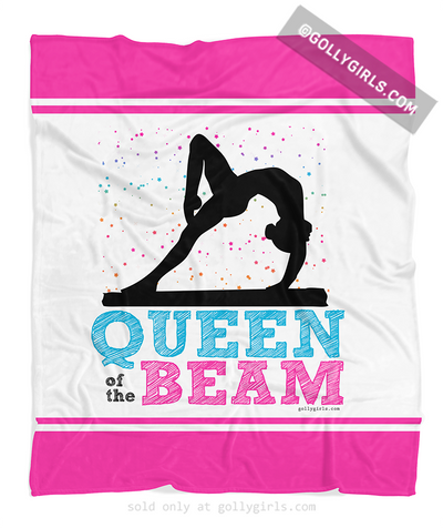 Golly Girls: Queen of the Beam Fleece Throw Blanket