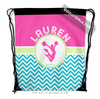 Golly Girls: Personalized Multi-Color Chevron Cheer Drawstring Backpack