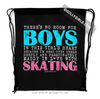 Golly Girls: No Room For Boys Skating Drawstring Backpack