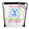 Golly Girls: Personalized Pastel Cheerleading Typography Drawstring Backpack