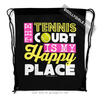 Golly Girls: The Tennis Court Is My Happy Place Drawstring Backpack
