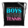 Golly Girls: No Room For Boys Tennis Drawstring Backpack