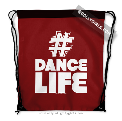Golly Girls: Hashtag Dance Life (Red) Drawstring Backpack
