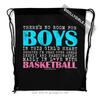 Golly Girls: No Room For Boys Basketball Drawstring Backpack