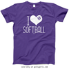 Golly Girls: I Hashtag Heart Softball T-Shirt (Youth-Adult)