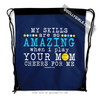 Golly Girls: Your Mom Cheers For Me Softball Drawstring Backpack