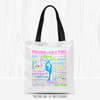 Golly Girls: Pastel Figure Skating Typography Tote Bag