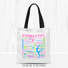 Golly Girls: Pastel Gymnastics Typography Tote Bag