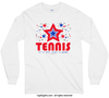 Patriotic Stars Tennis Long Sleeve T-Shirt (Youth-Adult)