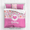 Golly Girls: Pink Summer Floral Personalized Every Girl Comforter Or Set