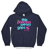 Golly Girls: This Princess Wears Grips Navy Hoodie (Youth-Adult)