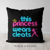 This Princess Wears Cleats Softball Throw Pillow - Golly Girls
