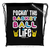 Golly Girls: Rockin' The Basketball Life Black Drawstring Backpack