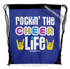 Golly Girls: Rockin' The Cheer Life Blue Drawstring Backpack
