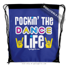 Golly Girls: Rockin' The Dance Life Blue Drawstring Backpack