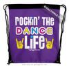 Golly Girls: Rockin' The Dance Life Purple Drawstring Backpack