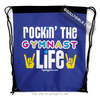 Golly Girls: Rockin' The Gymnast Life Blue Drawstring Backpack