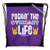 Golly Girls: Rockin' The Gymnast Life Purple Drawstring Backpack