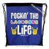 Golly Girls: Rockin' The Lacrosse Life Blue Drawstring Backpack