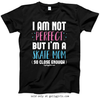 Golly Girls: I Am Not Perfect - Skate Mom T-Shirt