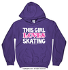 Golly Girls: This Girl Loves Skating Purple Hoodie (Youth & Adult Sizes)