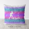 Personalized Soccer Starry Sky Throw Pillow