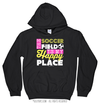Golly Girls: The Soccer Field Is My Happy Place Black Hoodie (Youth-Adult)